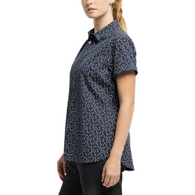 Haglöfs Idun SS Shirt Women, dense blue flower